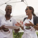 Jimmy and Johari Rollins promote healthy eating at SHARE